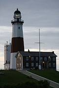 Montauk Photos - Montauk Point Light at Dawn by Christopher Kirby