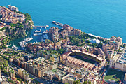 Monaco Art - Monte Carlo Aerial French Riviera by Jean-Pierre Pieuchot