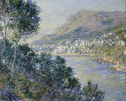 Impressionism; Impressionist; Harbour; Harbor; Sea; Ocean; Ship; Boat; Sail; Sailing;water Prints - Monte Carlo Print by Claude Monet