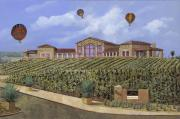 Featured Art - Monte de Oro and the air balloons by Guido Borelli
