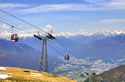 Cable Car Prints - Monte Tamaro - Switzerland Print by Joana Kruse