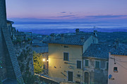 Hill Town Art - Montepulciano at Dawn by Rob Tilley