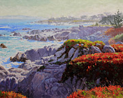 Coastal Oil Paintings - Monteray Bay morning 2 by Gary Kim