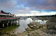 Docked Boats Prints - Monterey Harbor - Old Fishermans Wharf - California Print by Brendan Reals