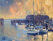 Robert Lewis Prints - Monterey Marina in Early Morning Print by Robert Lewis