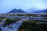 Skylines Metal Prints - Monterrey At Dusk With Cerro De La Metal Print by Raul Touzon