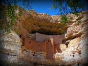 Native American Dwellings Prints - Montezuma Castle in Arizona Print by Jen White