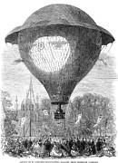 Montgolfier Balloon, 1864 Print by Granger