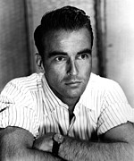 Striped Shirt Posters - Montgomery Clift, Ca 1953 Poster by Everett
