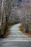 Fall Cards Prints - Montgomery Mountain Rd. Print by Deborah Benoit