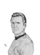 Spock Drawings Prints - Montgomery Scotty Print by Thomas J Herring