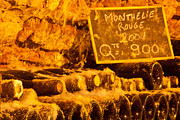 Wine Cellar Photo Originals - Monthelie Rouge-France by John Galbo