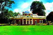 Thomas Jefferson Digital Art Metal Prints - Monticello Metal Print by Bill Cannon