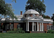 Library Digital Art - Monticello by DigiArt Diaries by Vicky Browning