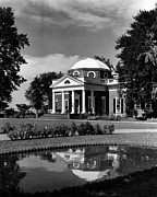 Monticello Prints - Monticello, Home Of Thomas Jefferson Print by Everett