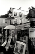 Black And White Prints Prints - Montmartre Print by Kathy Yates