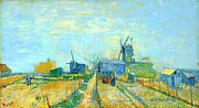 The Starry Night Posters - Montmartre Mills and Vegetable Garden by Vincent Van Gogh Poster by Pg Reproductions