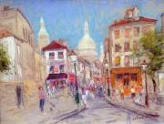 Paris Pastels Prints - Montmartre Paris Print by Kamil Kubik