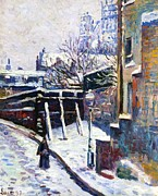 Montmartre Paintings - Montmartre Paris by Maximilien Luce