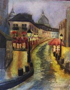 Montmartre Paintings - Montmartre Paris by Nichole Williamson