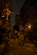 Montreal Streets Metal Prints - Montreal at Night Metal Print by Mike Horvath
