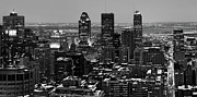Downtown Montreal Art - Montreal city Black and White by Pierre Leclerc