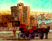 Montreal Restaurants Paintings - Montreal City View by Carole Spandau