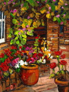 Walden Paintings - Montreal Cityscenes Homes And Gardens by Carole Spandau