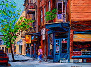 Montreal Storefronts Paintings - Montreal Depanneurs by Carole Spandau
