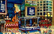 Cafes Painting Posters - Montreal International Jazz Festival Poster by Carole Spandau