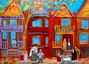 Montreal Landmarks Paintings - Montreal Memories Of Zaida And The Family by Carole Spandau