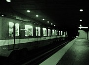 Black And White Photos Originals - Montreal Metro Ride by Reb Frost