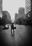 Black And White Photos Originals - Montreal on a Rainy Day by Reb Frost