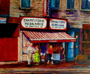 Out-of-date Prints - Montreal Paintings  Available For Fundraisers By Streetscene  Artist Carole Spandau  Print by Carole Spandau