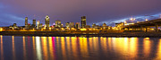 Eavning Prints - Montreal Panorama Print by Mircea Costina Photography