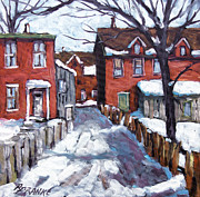 Oil  Gallery Paintings - Montreal Scene 02 by Prankearts by Richard T Pranke
