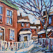 Original  By Artist Paintings - Montreal Scene 03 by Prankearts by Richard T Pranke