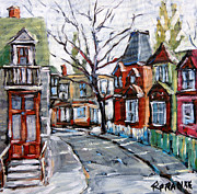 Original  By Artist Paintings - Montreal Scene 04 by Prankearts by Richard T Pranke
