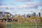 Montreal City Scenes Prints - Montreal View from Verdun Print by Reb Frost