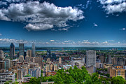 Montreal Streets Metal Prints - Montreal View Metal Print by Mike Horvath