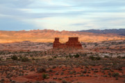 Road Trip Framed Prints - Monument at sunset in Arches National Park Framed Print by Pierre Leclerc