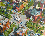 2011 Painting Prints - Monument Avenue In Richmond Virginia Print by Robert Joyner