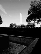 Washington Prints Prints - Monument From A Distance Print by Steven Ainsworth