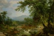Rushing Water Paintings - Monument Mountain - Berkshires by Asher Brown Durand