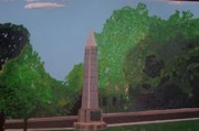 Revolutionary War Painting Originals - Monument of the Revolutionary War of 1776 by William Demboski