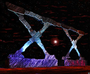 Space Photography - Monument on Planet X by David Lee Thompson