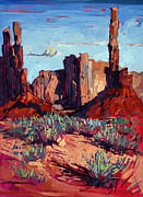 Red Rock Canyon Paintings - Monument Spires by Erin Hanson