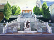 Doughboy Painting Prints - Monument Terrace Print by J Luis Lozano
