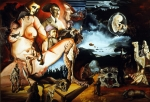 Surrealism Prints - Monument To The Unborn War Hero Print by Otto Rapp