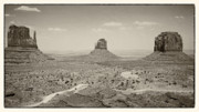 Sandstorm Prints - Monument valley 3 Print by Hideaki Sakurai